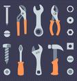 Repair tools simple icons set vector image