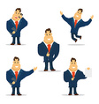 Businessman Cartoon Character in Blue Suit vector image