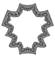 Set of geometric frame vector image