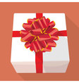 Gift box with re ribbon vector image