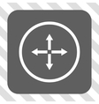 Expand Arrows Rounded Square Button vector image