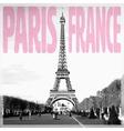 Paris France - Romantic card with quote and vector image