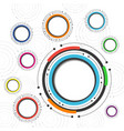 496colorful circle background vector image