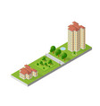 hotel apartments 3d dimensional building of vector image