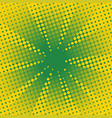 retro rays comic yellow green background vector image