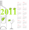 template for calendar 2011 vector image vector image