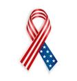 American Flag Ribbon vector image