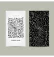 Vintage business cards floral design vector image vector image