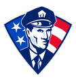 american police officer vector image vector image