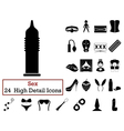 Set of 24 Sex Icons vector image