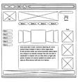 Prototype website usability vector image