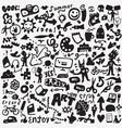 art tools doodles set vector image