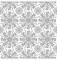 Black cartoon firewoks pattern on white background vector image