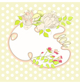 decorative background with floral element vector image