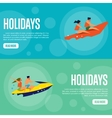 Holidays Website Template Set Horizontal banners vector image