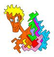 imaginative face draw vector image