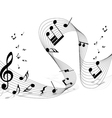 musical notes staff background for design use vector image