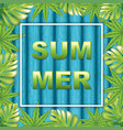 palm leaves vector image