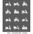 Scooter Icons Set vector image