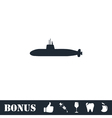 Submarine icon flat vector image