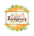 thanksgiving typographyhappy thanksgiving day - vector image