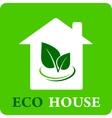 eco house icon vector image vector image