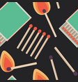 seamless pattern with flat matches vector image