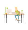 freelance designer cg artist character vector image