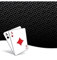 Stylized poker background vector image
