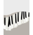 piano keys retro background vector image vector image
