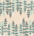 Seamless Patterns with Drawing sprigs of flowers vector image vector image