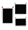 Photo frames composition vector image