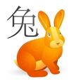 Rabbit as Chinese zodiac symbol vector image vector image