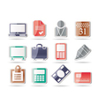 Business and office icons vector image