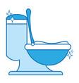 ceramic toilet hygiene domestic vector image
