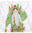 Colored vintage chinese opera figures vector image