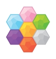 Colorful gemstones simple game objects set vector image