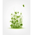 Green meadow background for your design vector image