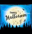 halloween spooky background vector image