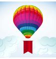hot air balloon background vector image