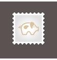Pig stamp Outline vector image