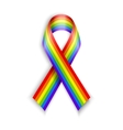 Rainbow Ribbons Isolated on white with vector image