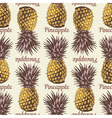 Seamless pineapple retro 1 vector image