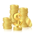 Stacks of gold coins vector image