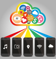 Technology of Smart phone with cloud concept vector image