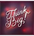 Think Big design vector image