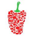 pepper on vegetables vector image