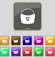woman hand bag icon sign Set with eleven colored vector image
