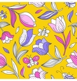 Summer pattern with tulips 1 vector image