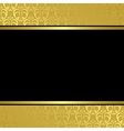 black center on golden background vector image vector image